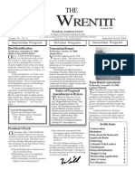 September-October 2008 Wrentit Newsletter ~ Pasadena Audubon Society