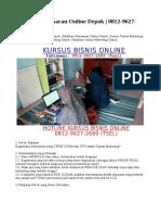 Training Pemasaran Online Depok   0812-9627-2689