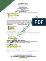 Marketing Management - MKT501 Fall 2010 Mid Term Paper