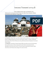 Kronologi Bencana Tsunami 2004 Di Aceh