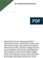 Pengertian Administrasi bisnis