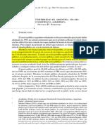 Déficit y Convertibilidad en Argentina 1991-2001