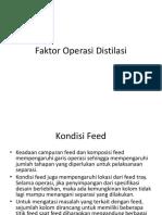 Faktor Operasi Distilasi + aspek desain