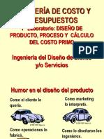 Costos y presupuestos producto  Ing. Gustavo Quispe 1° Laboratorio ICP Parte 1 Producto