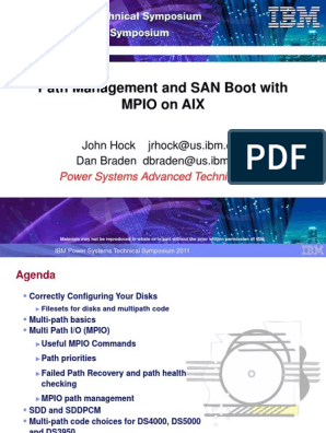 Path Management and SAN Boot with MPIO on AIX | Load