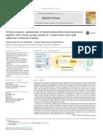 Techno-economic Optimization of Hybrid Photovoltaicwind Generation