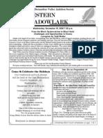 Nov-Dec 2006 Western Meadowlark Newsletter ~ San Bernardino Valley Audubon Society