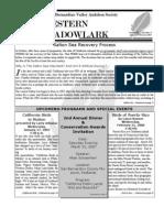 Jan-Feb 2007 Western Meadowlark Newsletter ~ San Bernardino Valley Audubon Society