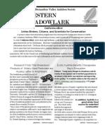 Jul-Aug 2007 Western Meadowlark Newsletter ~ San Bernardino Valley Audubon Society