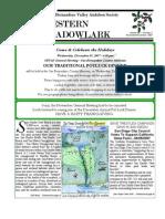 Nov-Dec 2007 Western Meadowlark Newsletter ~ San Bernardino Valley Audubon Society