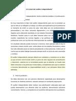 El Rol Actual Del Auditor Independiente