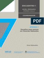Nivel Primario Ateneo Didáctico N° 1 Encuentro 1 Primer Ciclo Ciencias Naturales Carpeta Coordinador