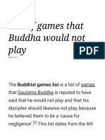 List of games that Buddha would not play - Wikipedia.pdf