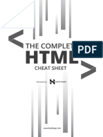 The Complete HTML Cheat Sheet (Black and White) Print Version