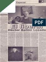 El liberal Héctor Ballón Lozada, Mario Rommel Arce Espinoza