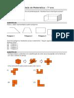 Simulado de Matemática 7o ANO
