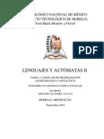 LA2 Lenguaje de Programación