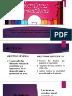 Tecnicas de La Creatividad Diapositivas Final