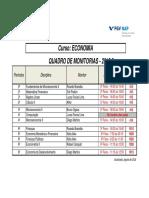 Quadro Das Monitorias 2018.2