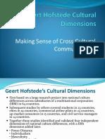 Geert Hofstede Cultural Dimensions