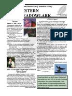 Jan-Feb 2009 Western Meadowlark Newsletter ~ San Bernardino Valley Audubon Society