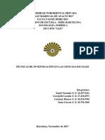 Técnicas de Investigación en las Ciencias Sociales