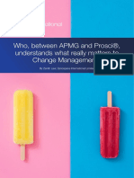 Change Management vs Prosci - What Really Matters