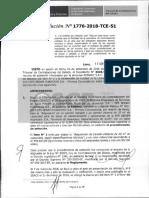 RESOLUCION N°1776-2018-TCE (RECURSO APELACION)
