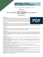Ordenanza Nº 479-2010 - Reglamento General de Tránsito - Municipalidad de Asunción