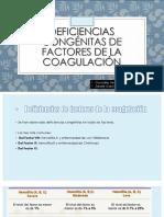 deficiencias de factores de coagulacion