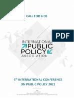 ICPP5 Call for Bids