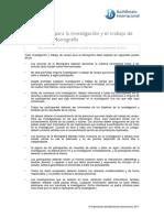 Pautas Eticas Trabajos de Investigacion