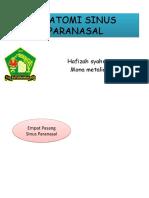 SINUS PARANASAL Hafizah & Mona.pptx