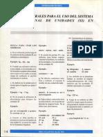 Reglas Generales Para El Uso Del Sistema Internaci