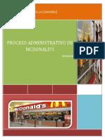 proceso de administracion de mcdonald