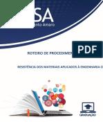 Roteiro de Procedimentos Laboratoriais_Resistência Dos Materiais Aplicados à Engenharia Civil_2018.1