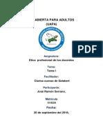 Tarea 3, Etica Profesional Del Docente