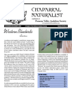 November-December 2009 Chaparral Naturalist - Pomona Valley Audubon Society