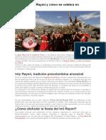 Que Es El Inti Raymi y Cómo Se Celebra en Cusco