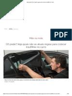 Veja quais são as atuais regras para colocar insulfilme no carro.pdf