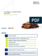 Leveraging Tax Opportunities With India