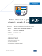 Análisis Crítico Desde Las Gramáticas Estructural y Generativa de La Semántica (1)