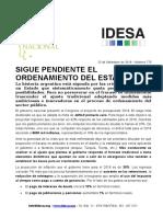 Informe Presupuesto 2019 IDESA