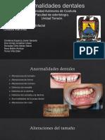 Anormalidades Dentales