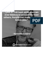One of the Best Skills You Can Ever Learn is to Accurately Read Others. People Can Make You...or Break You...