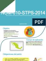NOM-010-STPS-2014 to