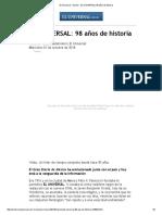 El Universal - Nación - EL UNIVERSAL_ 98 Años de Historia