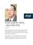 HOW NAJIB SQUANDERED AWAY STATE COFFERS BEFORE GE14 AND LIED ABOUT IT