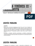 Prática Jurídica  - Trabalhista - Impugnação à Sentença Trabalhista