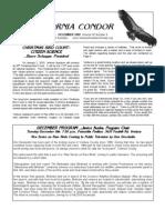 December 2009 California Condor Newsletter - Ventura Audubon Society
